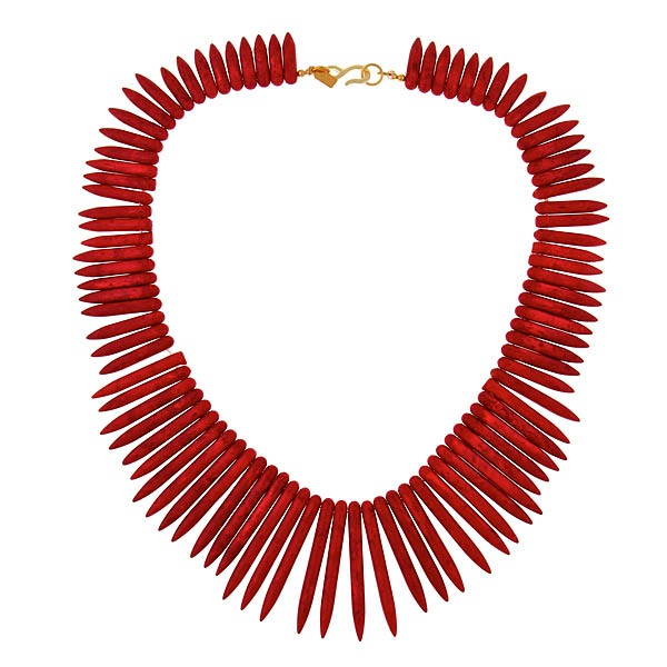 Coral Sticks Necklace by KENNETH JAY LANE