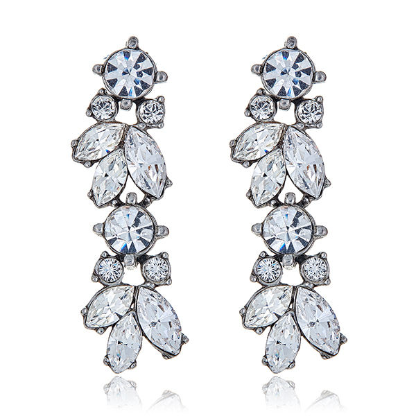 Crystal Vine Drop Earrings by BEN-AMUN