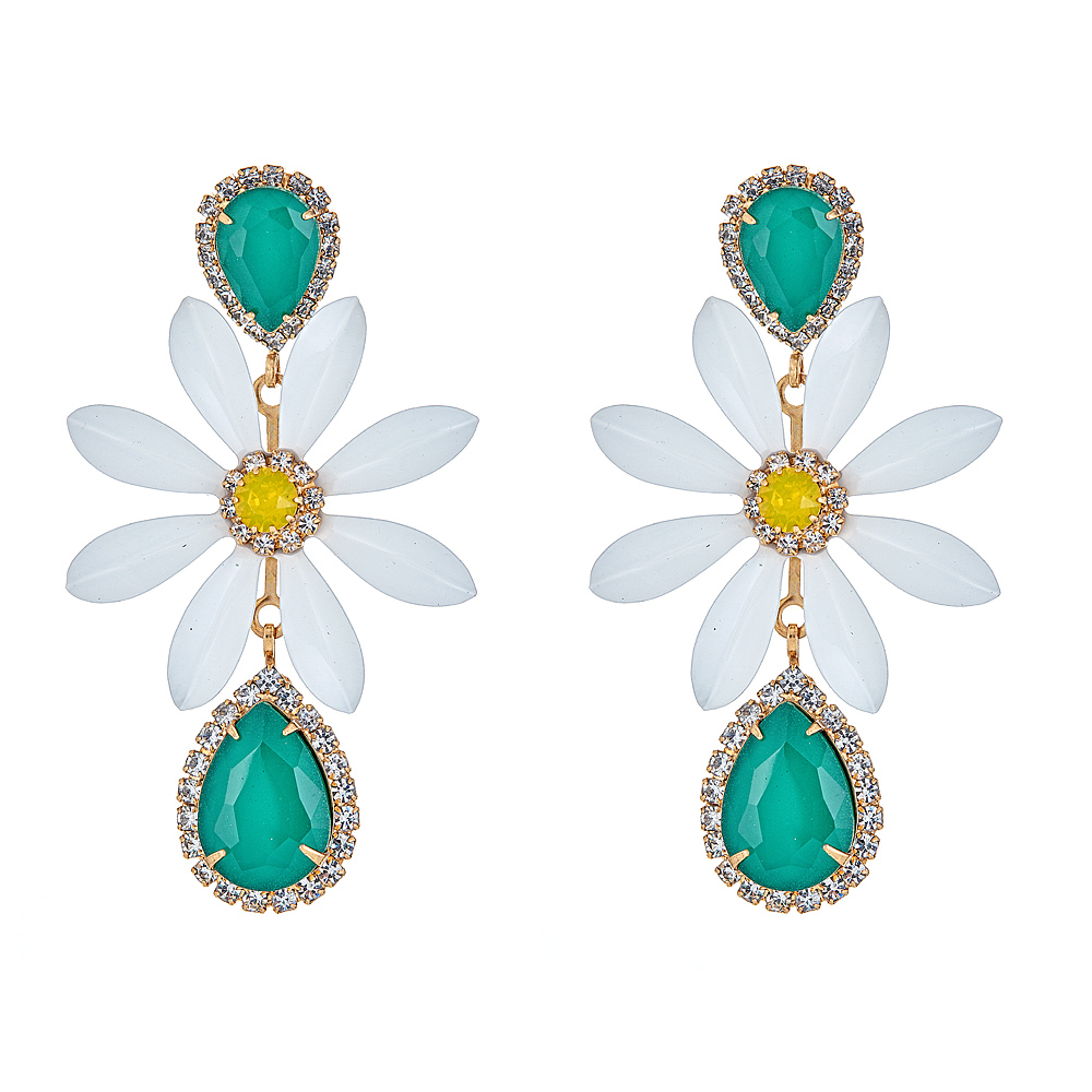 Daisy Flower Petal Earrings by ELIZABETH COLE