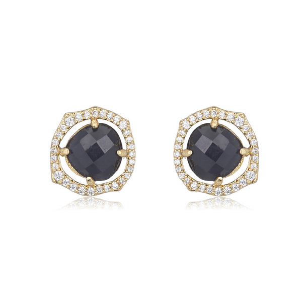 Blue Cat's Eye Stud Earrings by MARCIA MORAN
