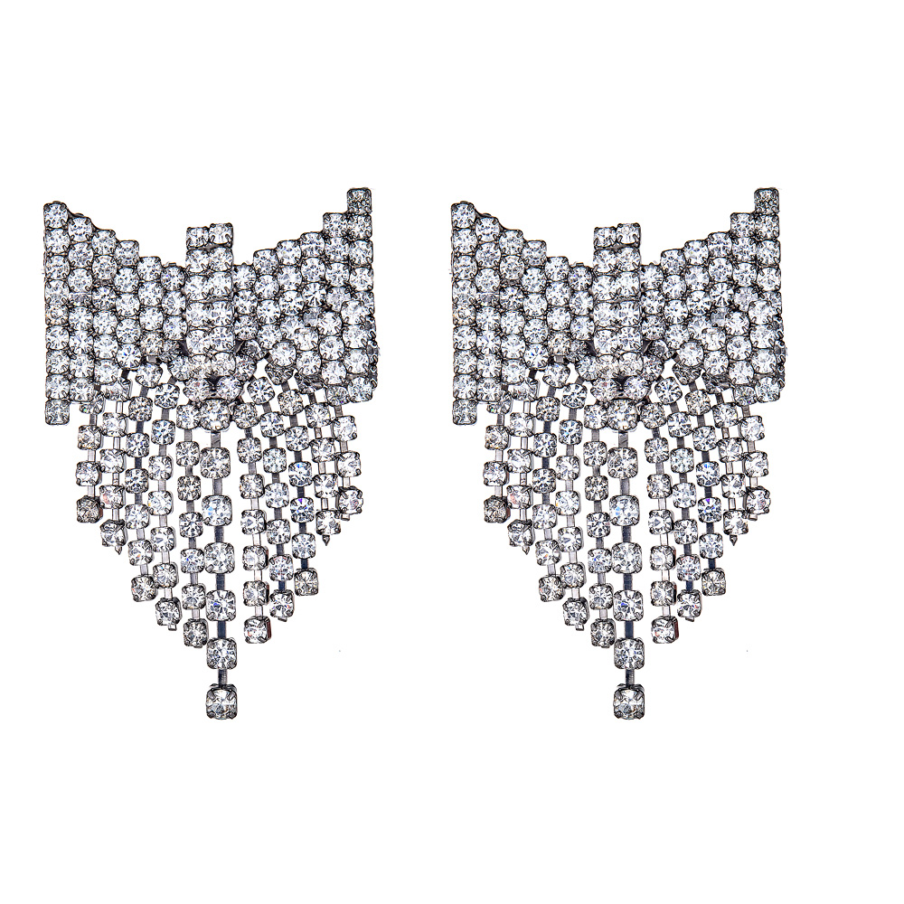 Deandra Crystal Bow Earrings by ELIZABETH COLE