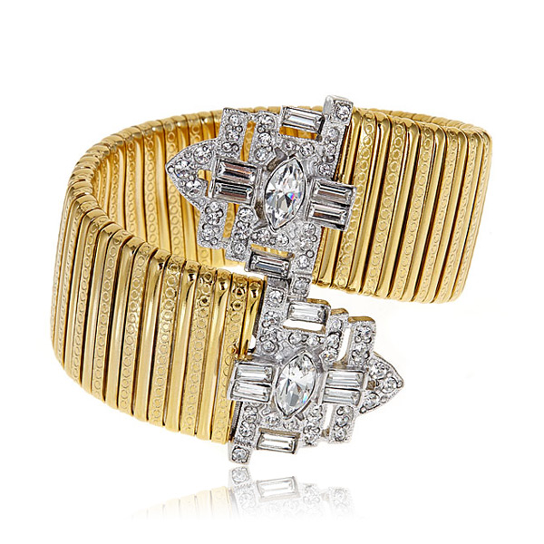 Deco Cuff Bracelet by Kenneth Jay Lane
