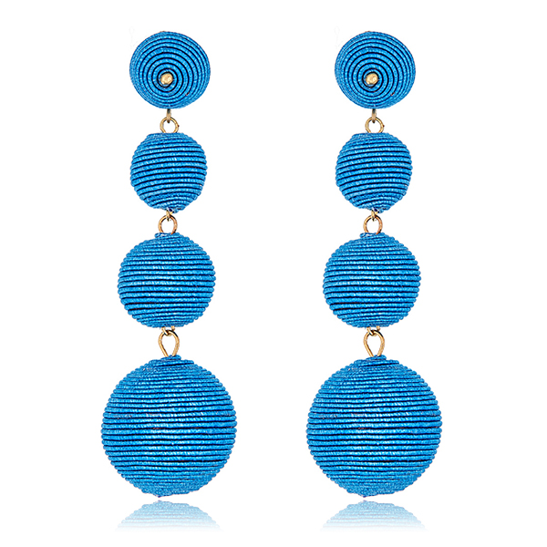 Blue Bon Bon Gumball Earrings by KENNETH JAY LANE