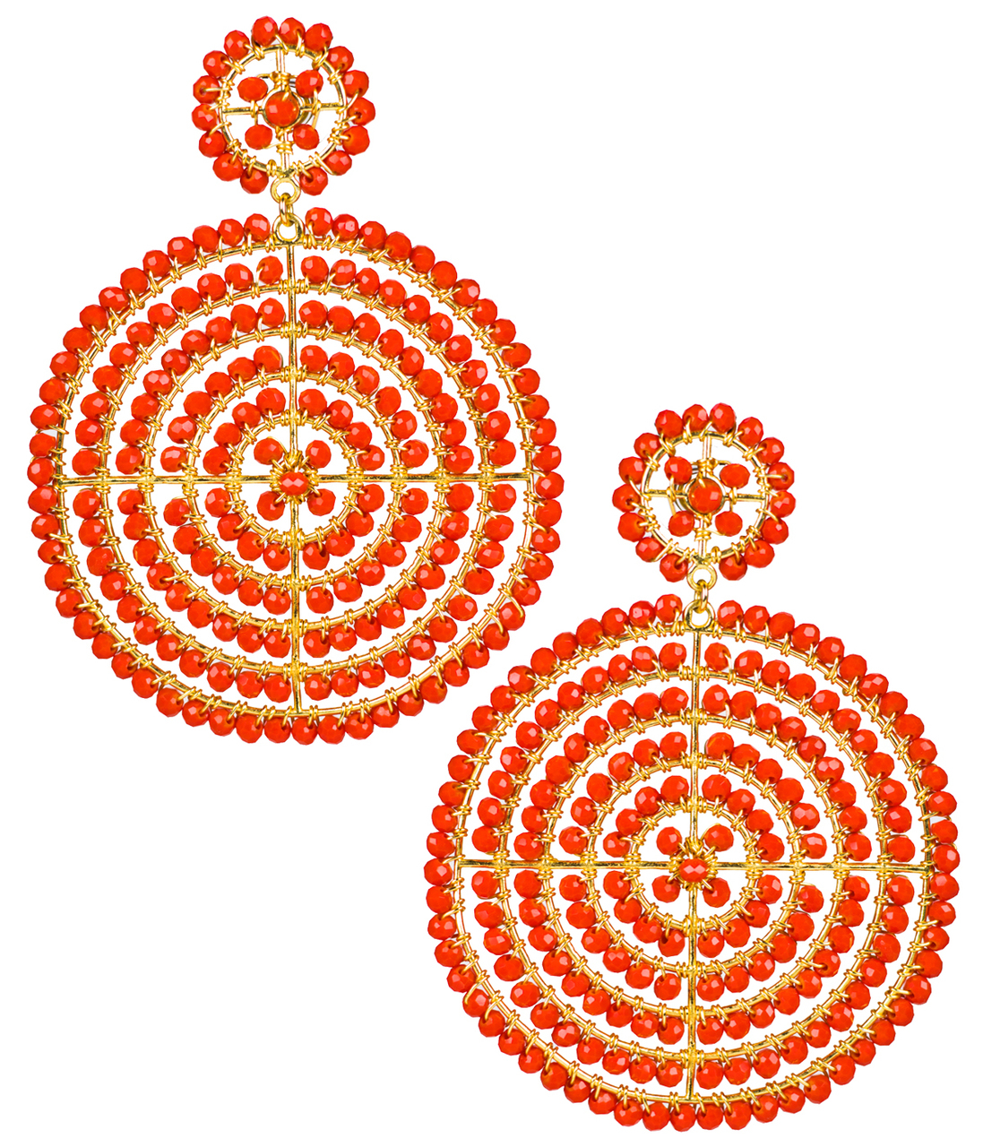 Disk Candy Apple Earrings by LISI LERCH