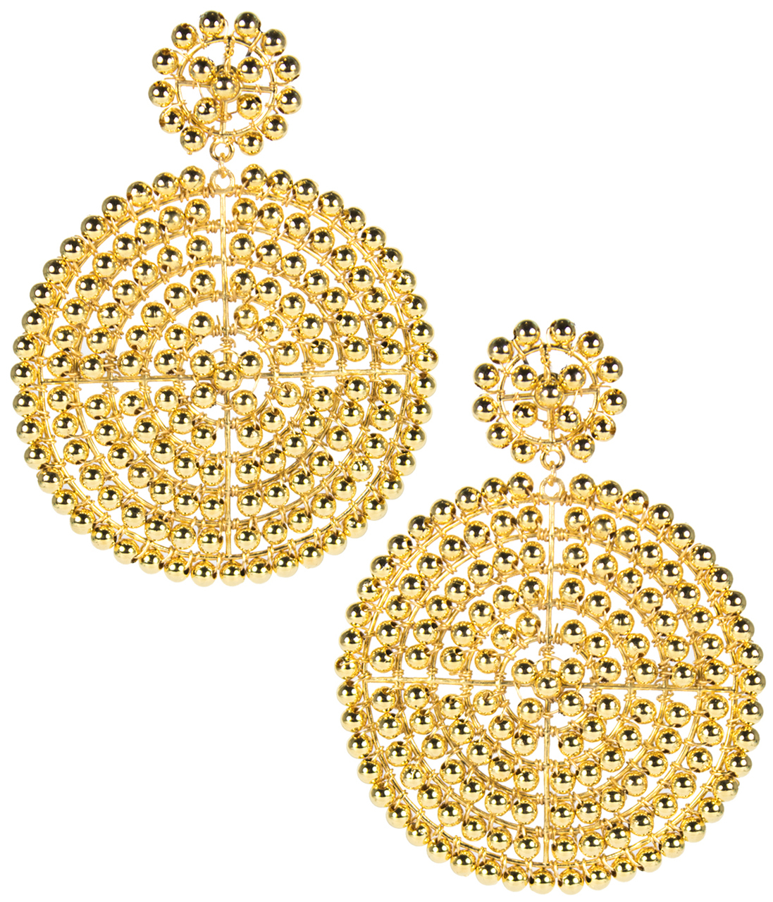 Disk Gold Earrings by LISI LERCH