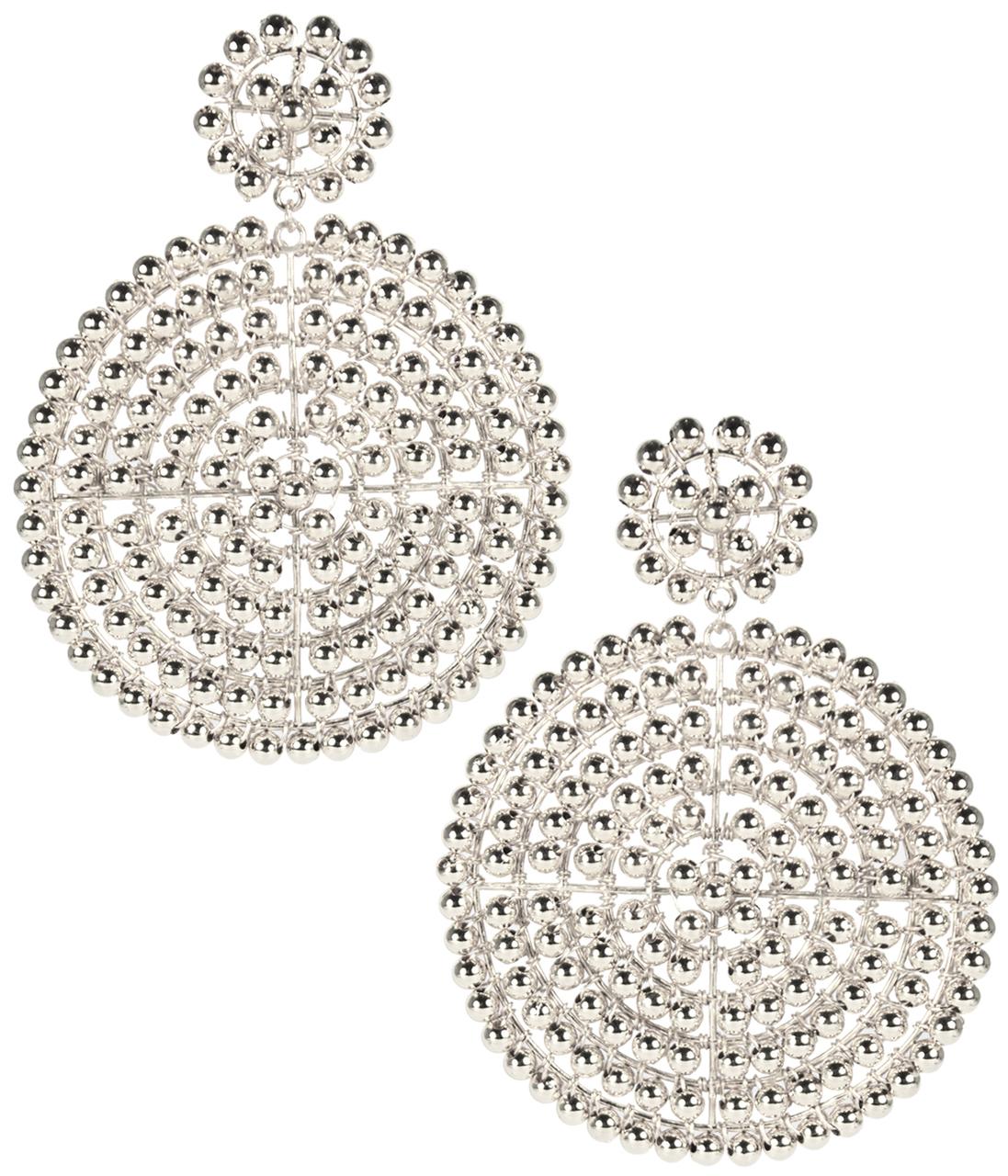 Disk Silver Earrings by LISI LERCH