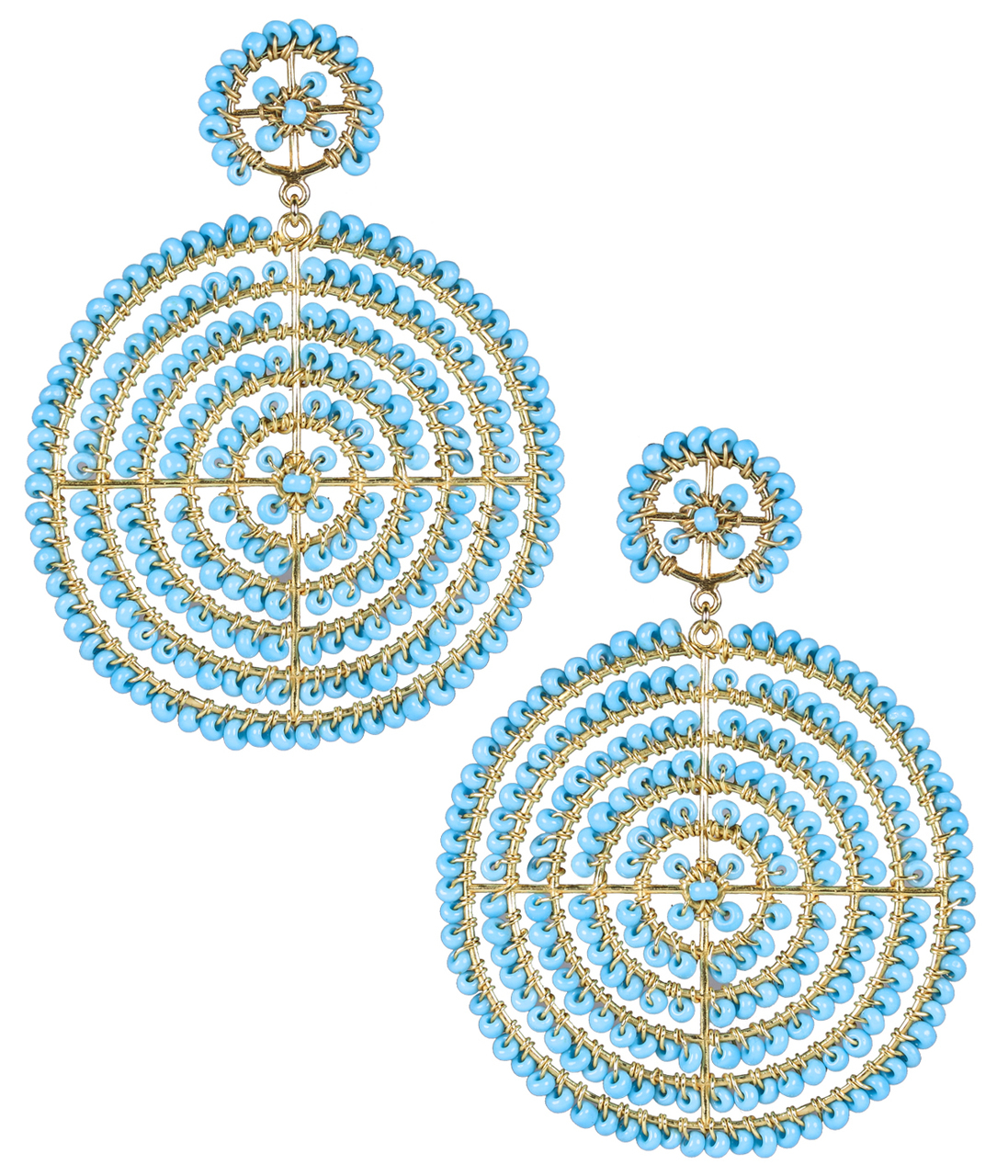 Disk Turquoise Earrings by LISI LERCH