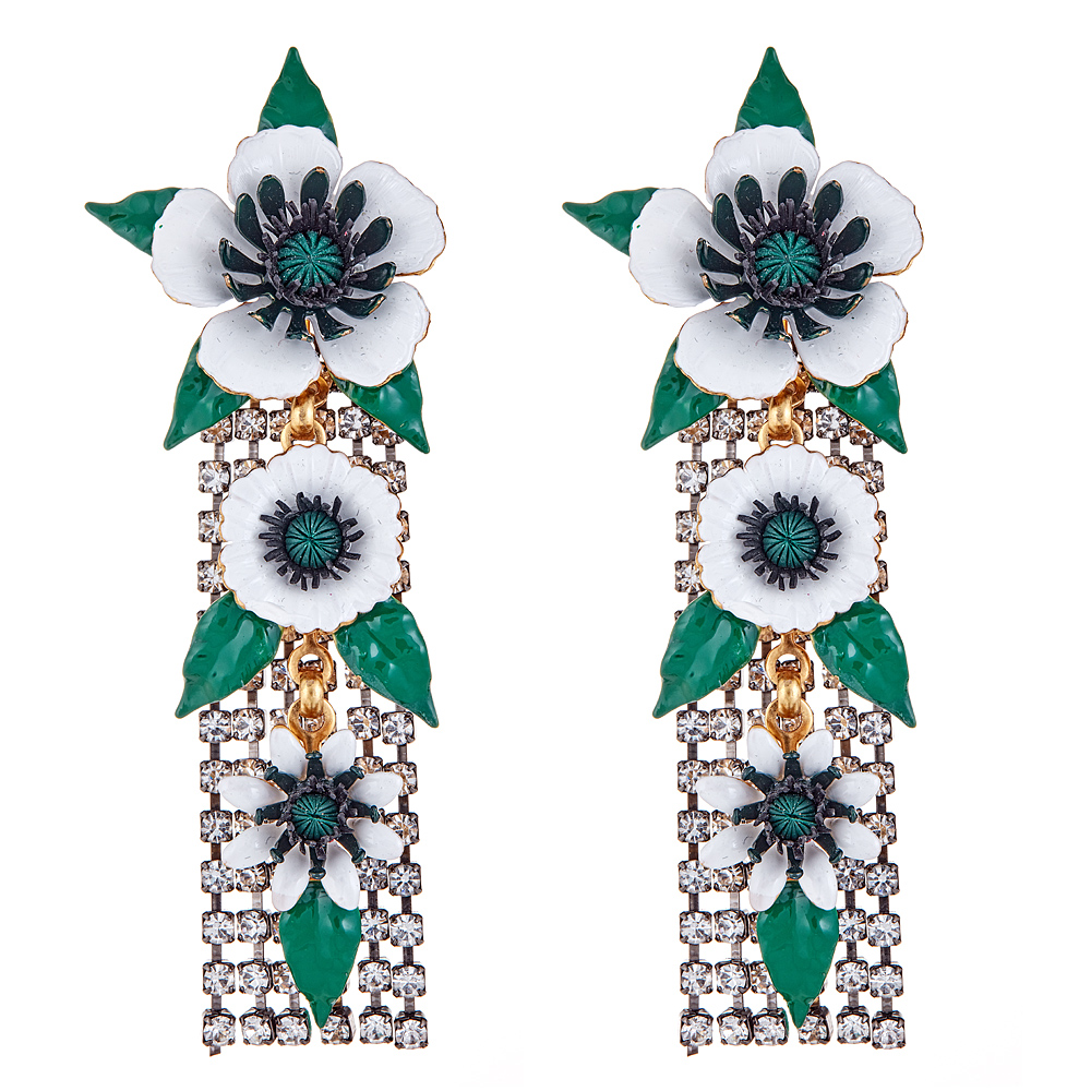 Donovan Flower Earrings by ELIZABETH COLE