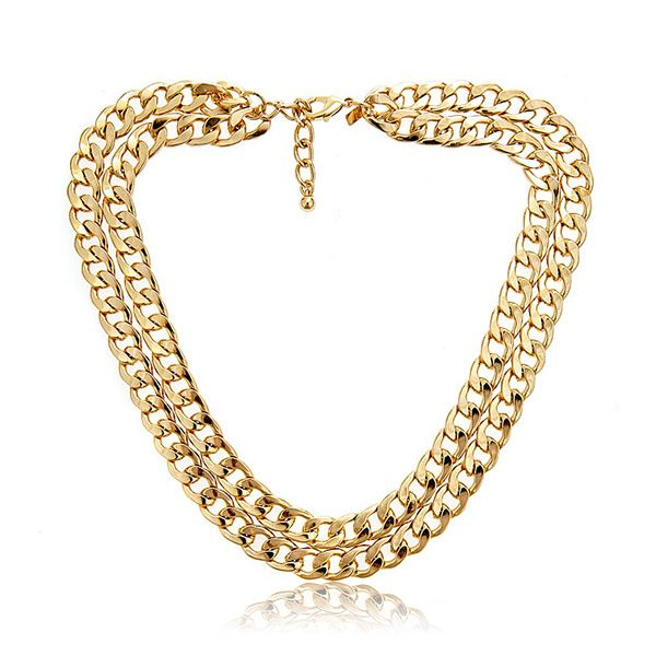 Double Gold Chain Necklace by Kenenth Jay Lane