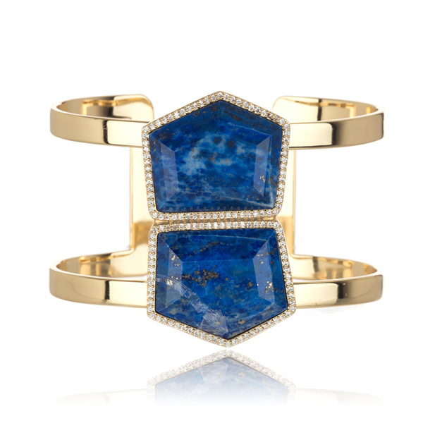 Double Lapis Cuff by MARCIA MORAN