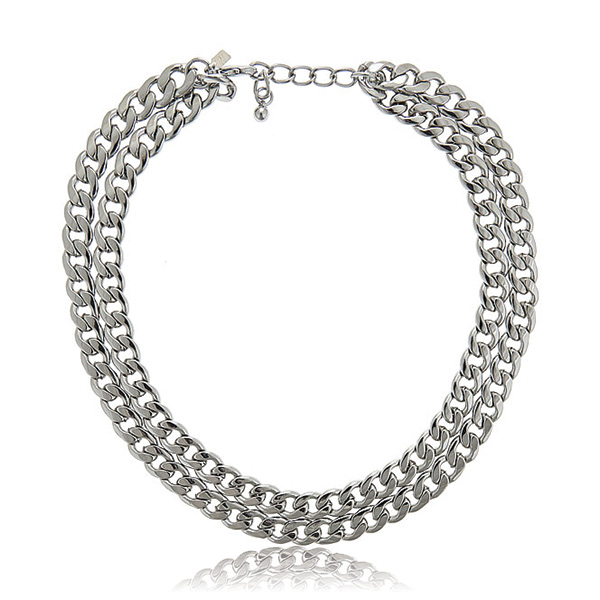 Double Layer Chain Necklace by KENNETH JAY LANE