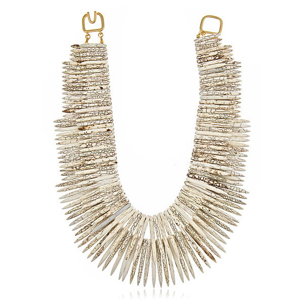 Double Sticks Tribal Necklace by KENNETH JAY LANE