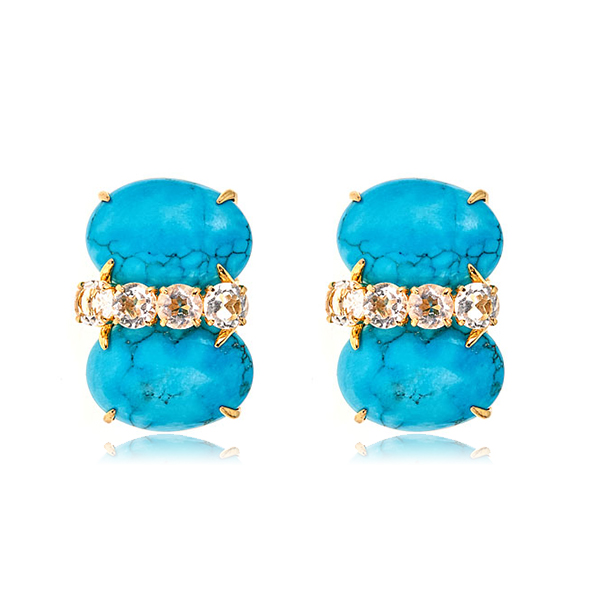 Bounkit Turquoise Stud Earrings by BOUNKIT