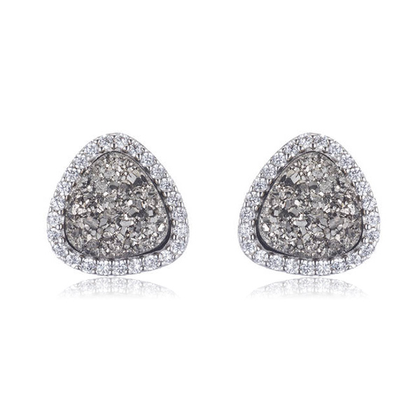 Druzy Delight Stud Earrings by MARCIA MORAN