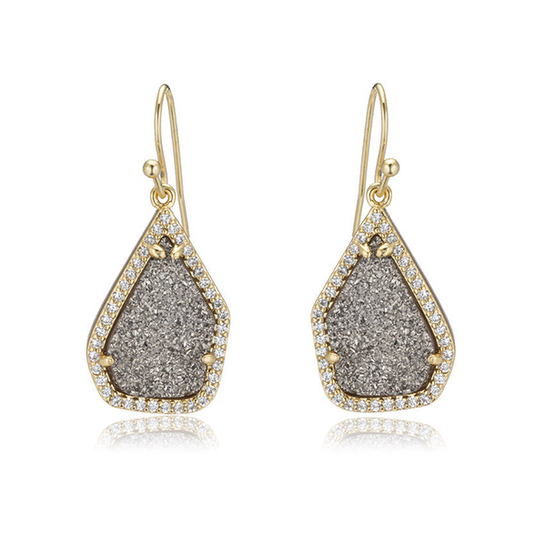 Druzy Dream Earrings by MARCIA MORAN
