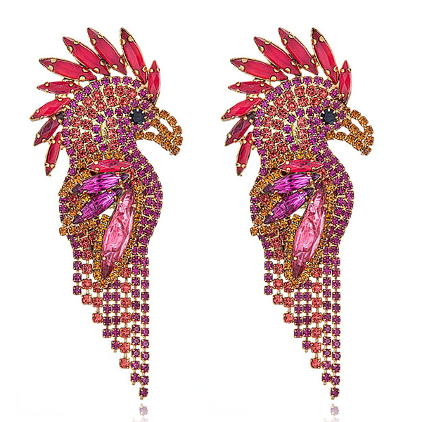 Elizabeth Cole Parrot Earrings by ELIZABETH COLE
