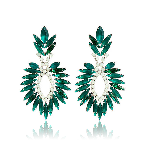 Emerald Beverly Earrings by ELIZABETH COLE