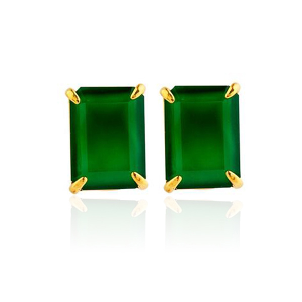 Bounkit Emerald Green Earrings by BOUNKIT