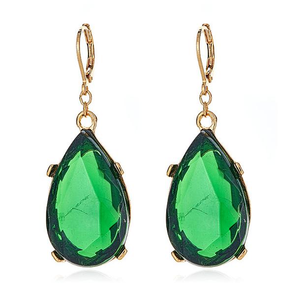 Emerald Drop Earrings by KENNETH JAY LANE