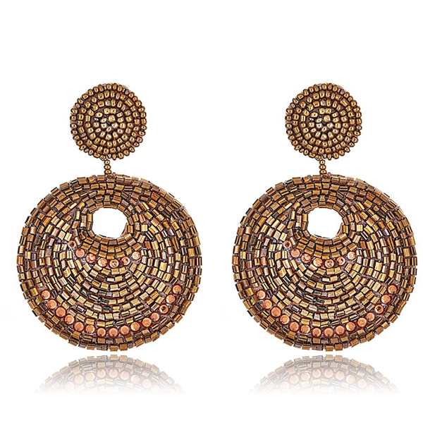 Kenneth Jay Lane Gypsy Gold Disc Earrings HAUTEheadquarters