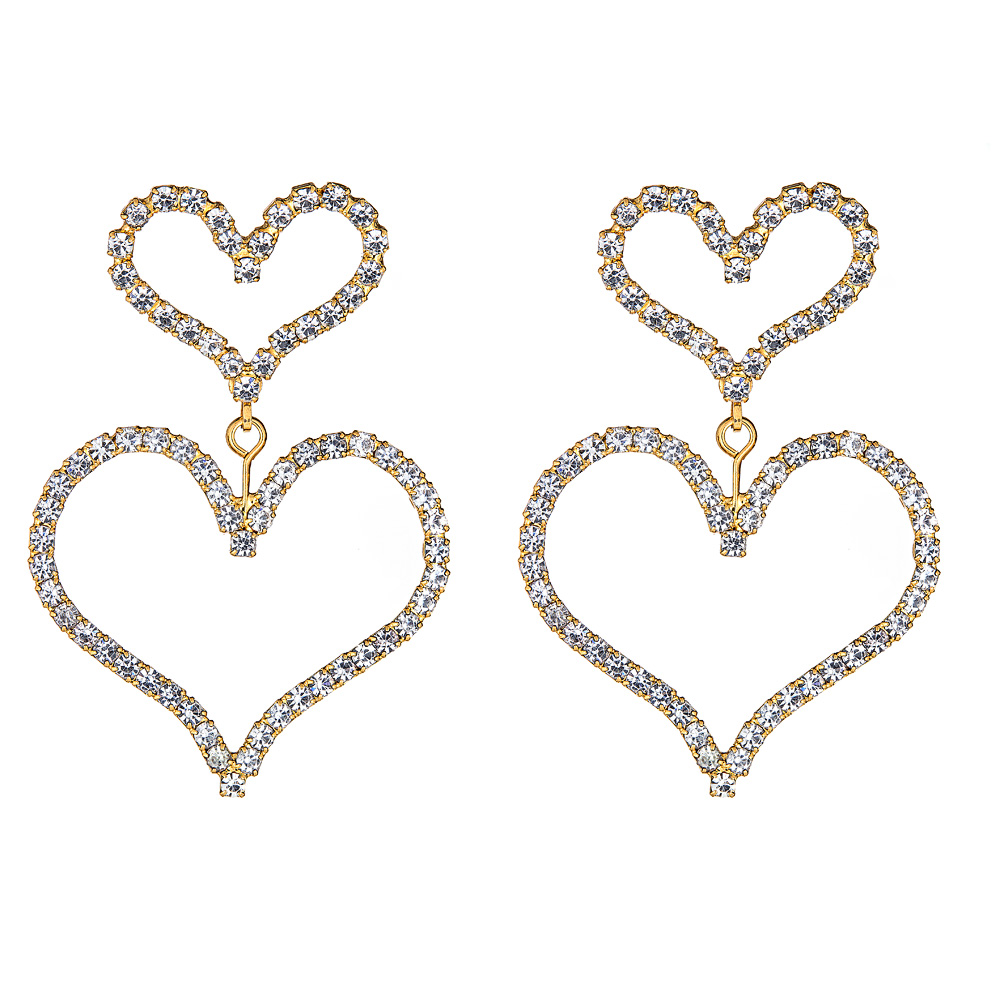 Emilia Crystal Heart Earrings by ELIZABETH COLE