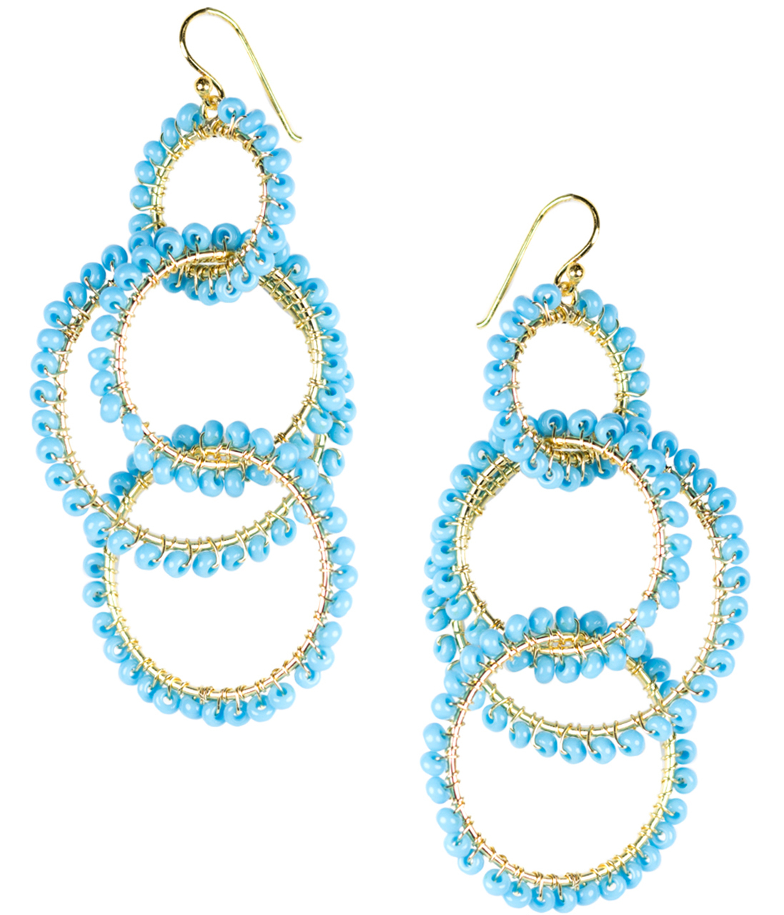 Emily Turquoise Earrings by LISI LERCH