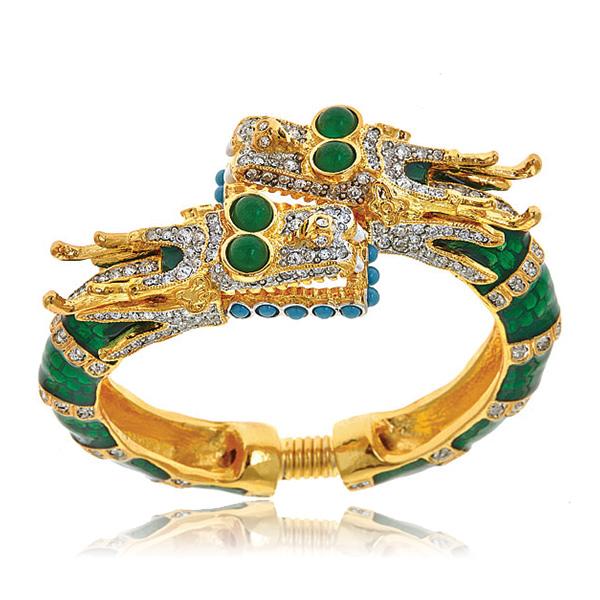 Kenneth Jay Lane Emerald Cabochon Bracelet Emerald rVNVlHd