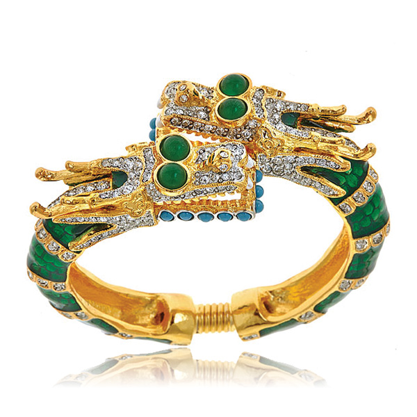 Enamel Dragon Bracelet by KENNETH JAY LANE