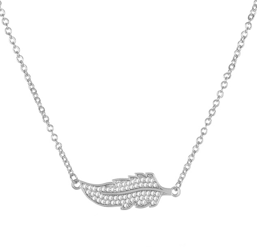 Feather Bar Necklace by MELINDA MARIA