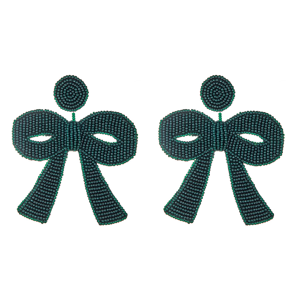 Fifi Emerald Bow Earrings by FRENCH AND FORD