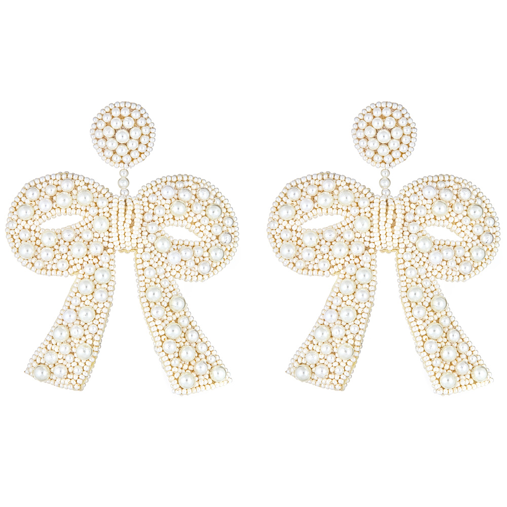 Fifi Popcorn Pearl Earrings by FRENCH AND FORD
