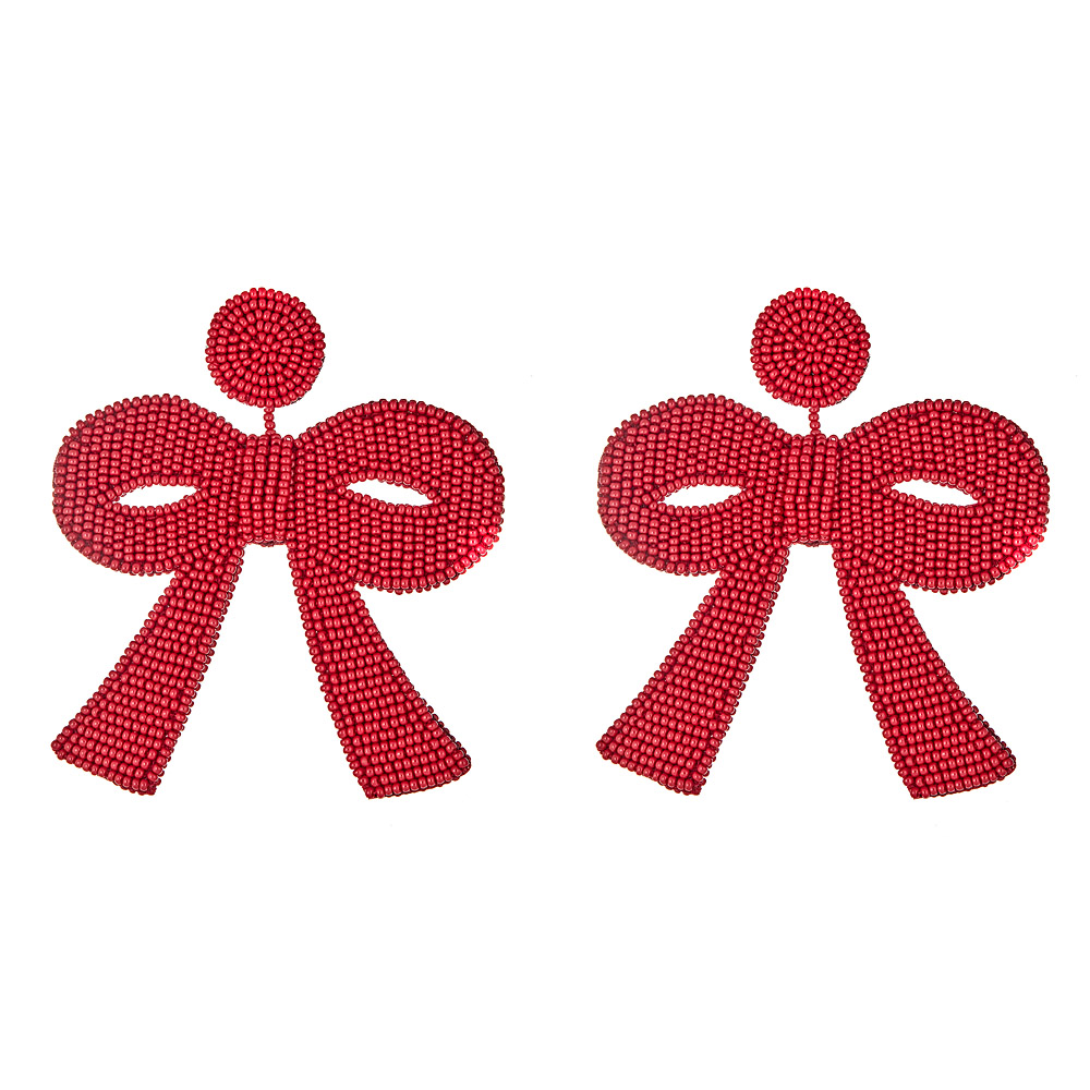 Fifi Red Bow Earrings by FRENCH AND FORD