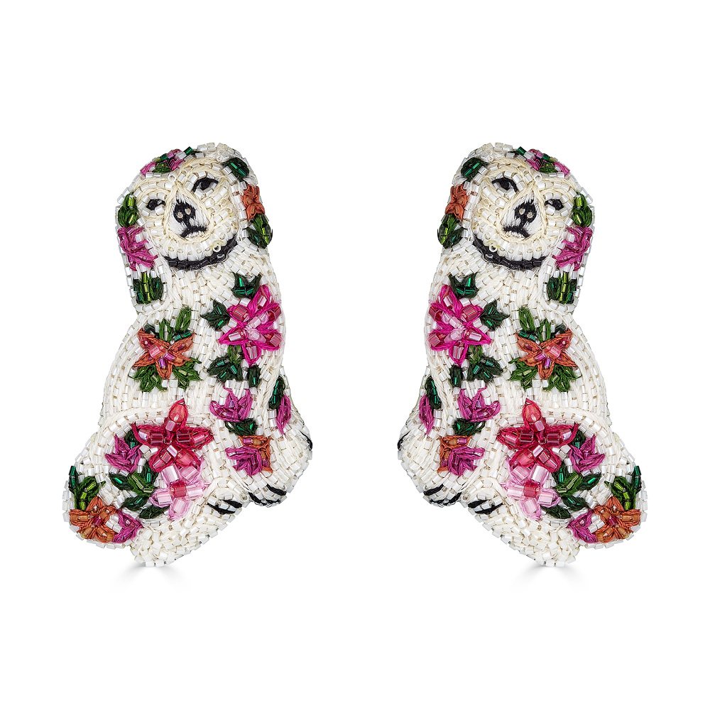 Fleur Spaniel Earrings by FRENCH AND FORD