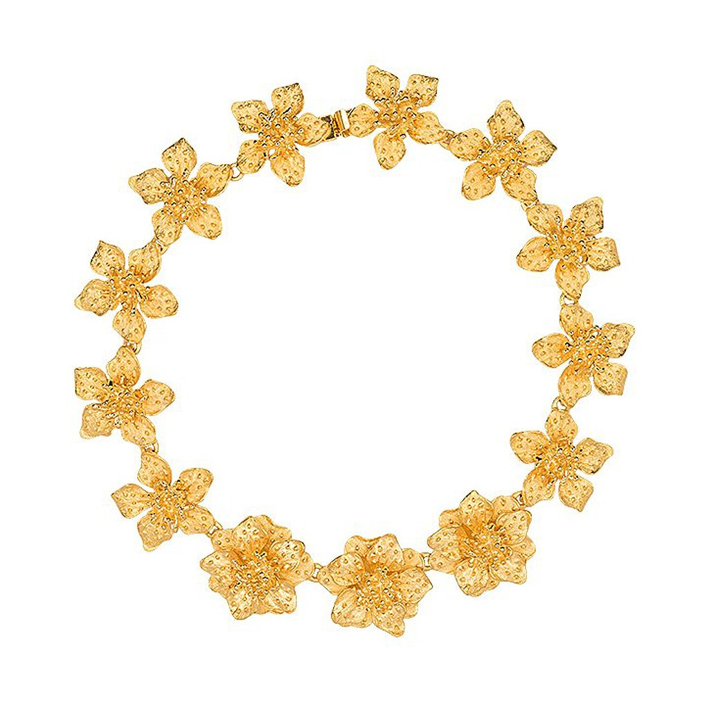 Dogwood Flower Gold Necklace by KENNETH JAY LANE