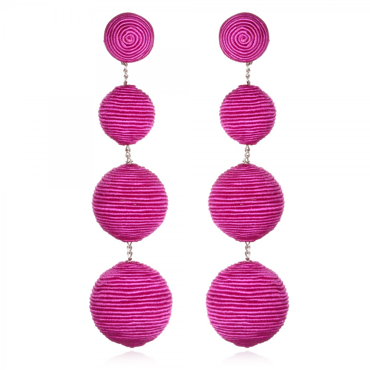 Fuchsia Gumball BonBon Earrings by SUZANNA DAI