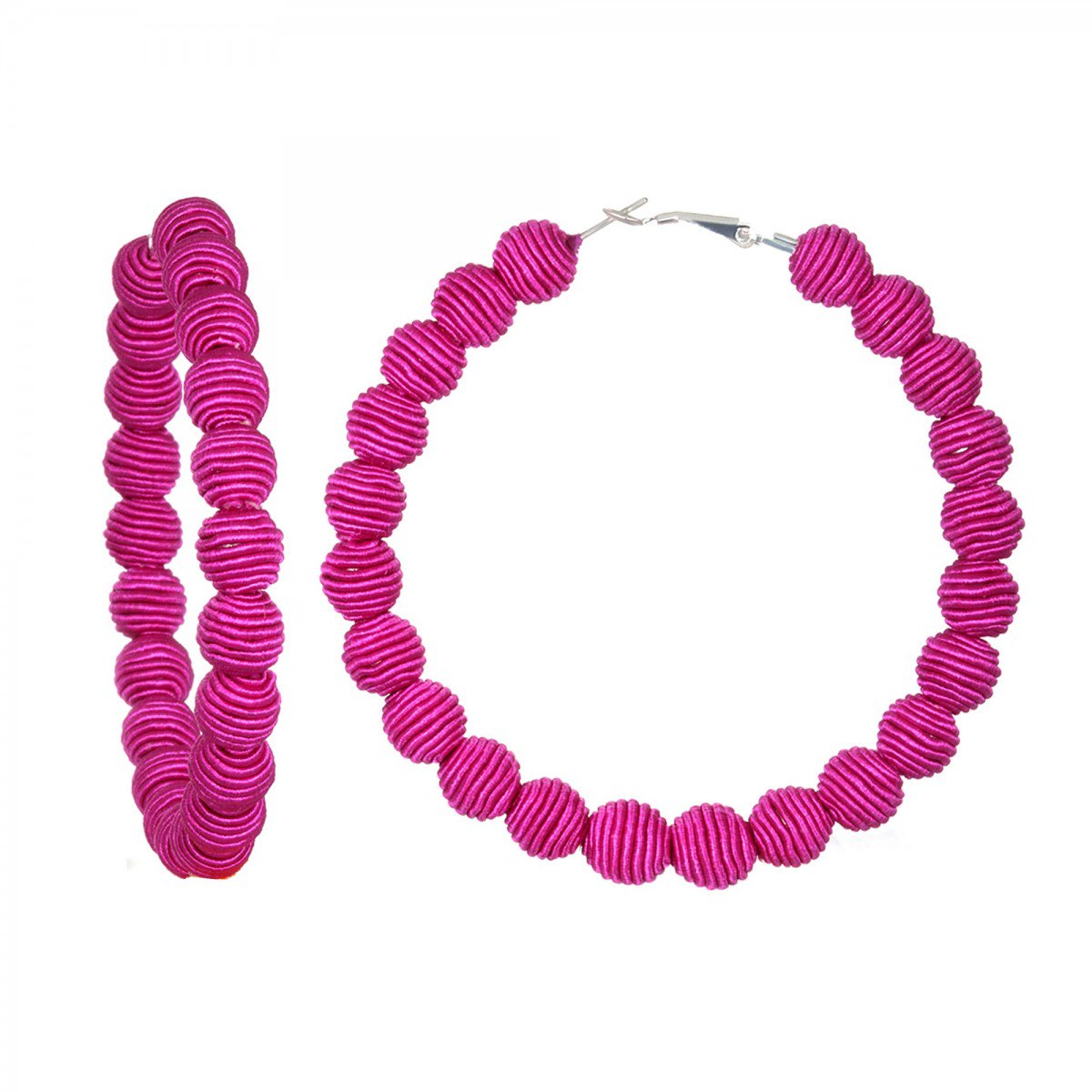 Fuchsia Hoop Earrings by SUZANNA DAI