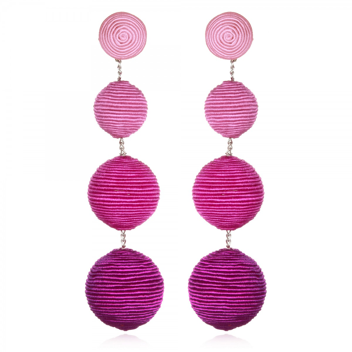 Fuchsia Ombre Gumball Earrings  by SUZANNA DAI