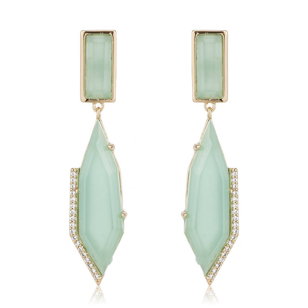 Geometric Chalcedony Earrings by MARCIA MORAN