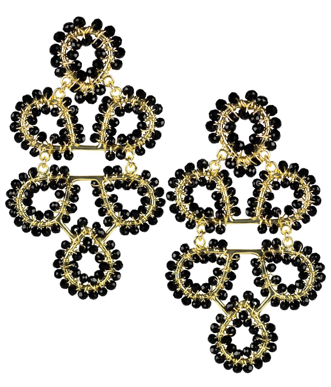 Ginger Black Earrings by LISI LERCH