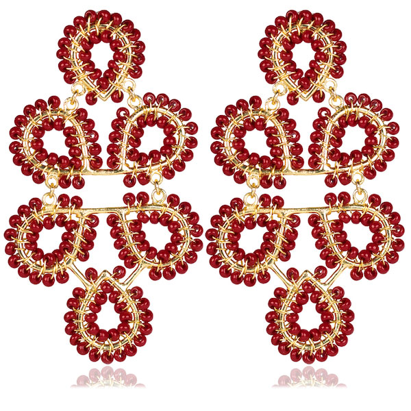 Ginger Burgundy Earrings by LISI LERCH