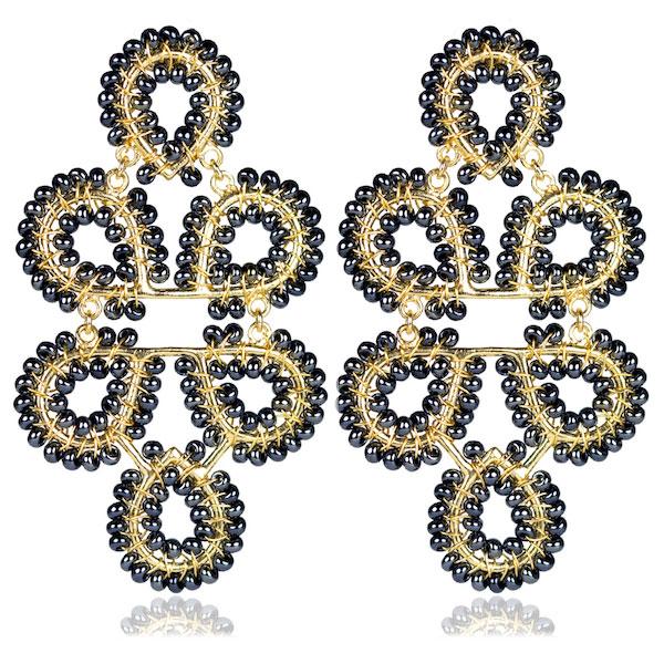 Ginger Gunmetal Earrings by LISI LERCH