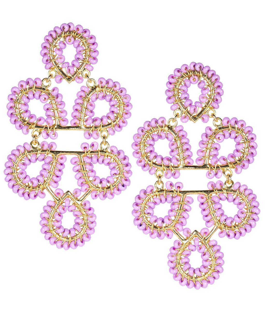 Ginger Lavender Earrings