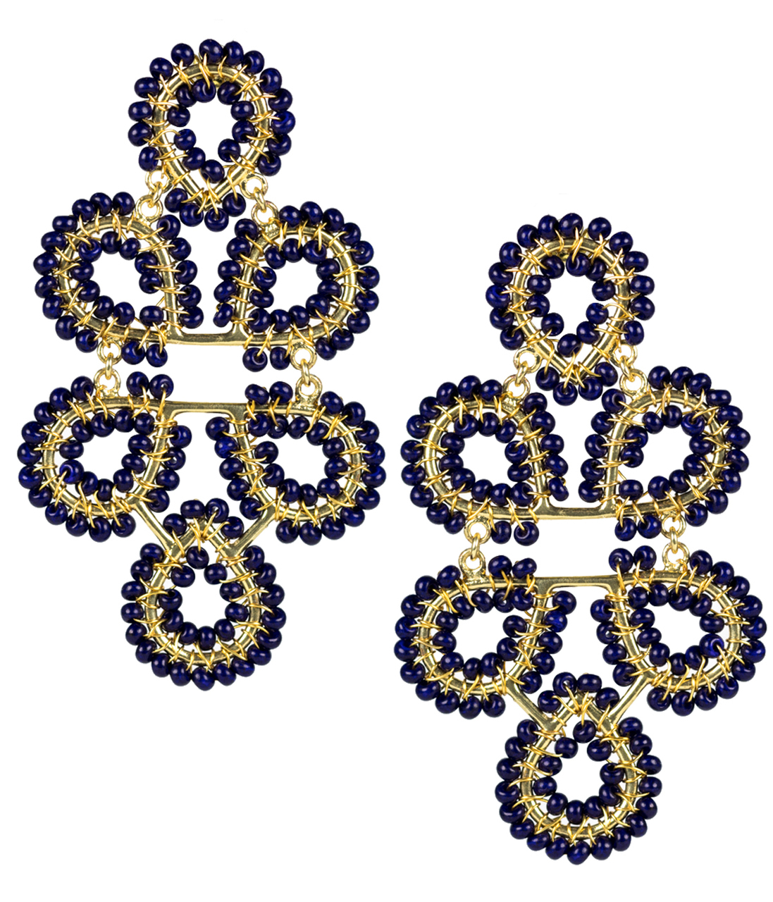 Ginger Navy Earrings