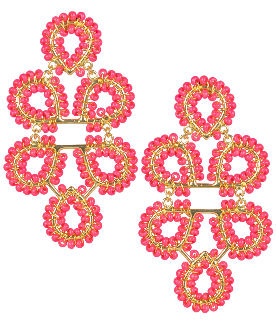 Ginger Pink Earrings by LISI LERCH