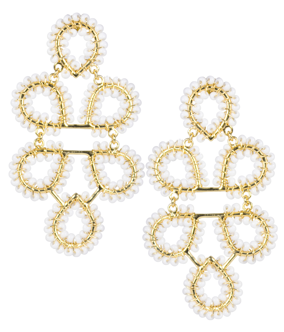 05c5043a1 Lisi Lerch Ginger White Earrings | HAUTEheadquarters