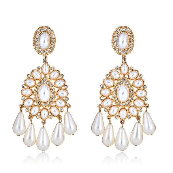 Globetrotter Pearl Earrings by KENNETH JAY LANE