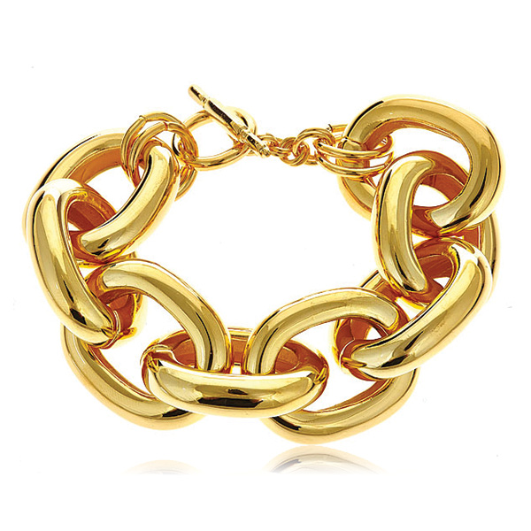 Gold Chain Link Bracelet by KENNETH JAY LANE