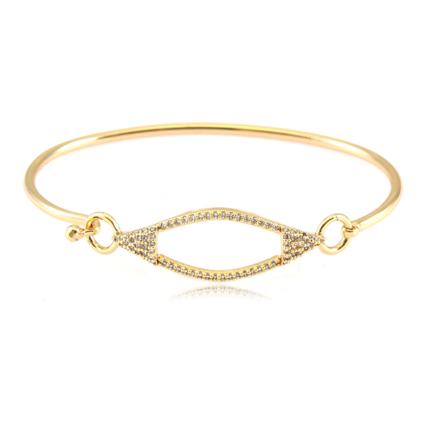 Gold CZ Bangle Bracelet by MARCIA MORAN