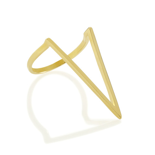 Gold Deep V Ring by Melanie Auld