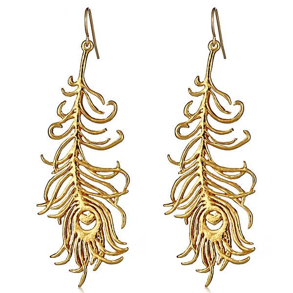 Gorjana Gold Feather Earrings HAUTEheadquarters